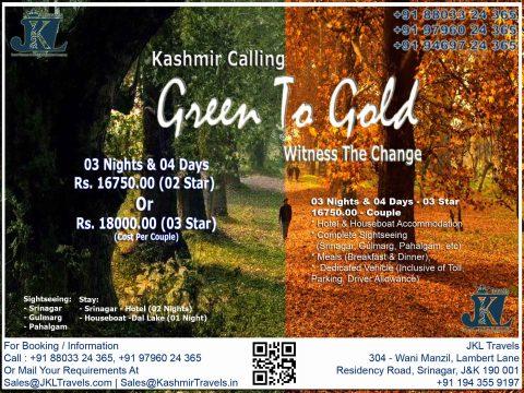 Kashmir Caling 03 Nights & 04 Days - 16750 - Couple